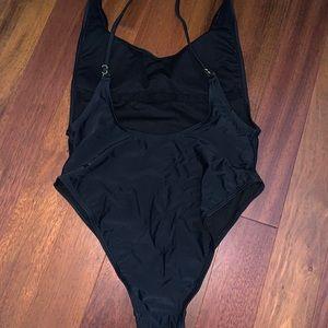 High Leg Black Bathing Suit